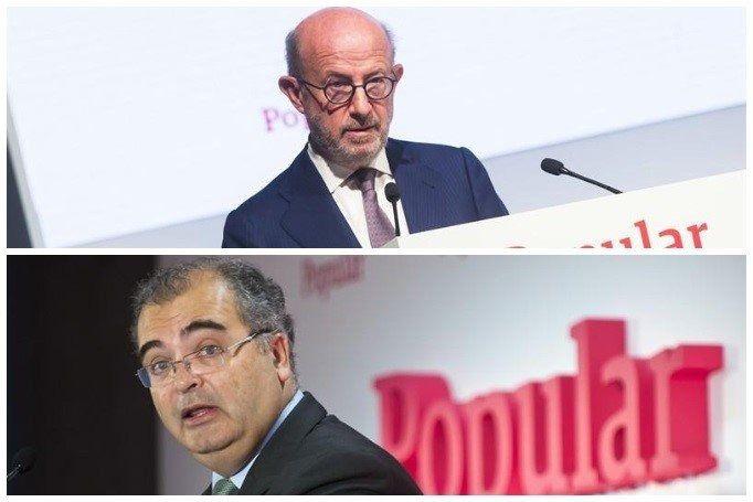 Los expresidentes del Banco Popular Emilio Saracho y Ángel Ron