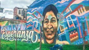 Mural indígenas Colombia