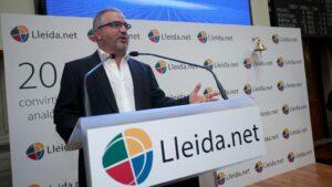 Sisco Sapena, gerente de Lleida.net , en la salida al MAB de Lleida.Net