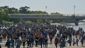 rantes en la frontera entre Guatemala y México