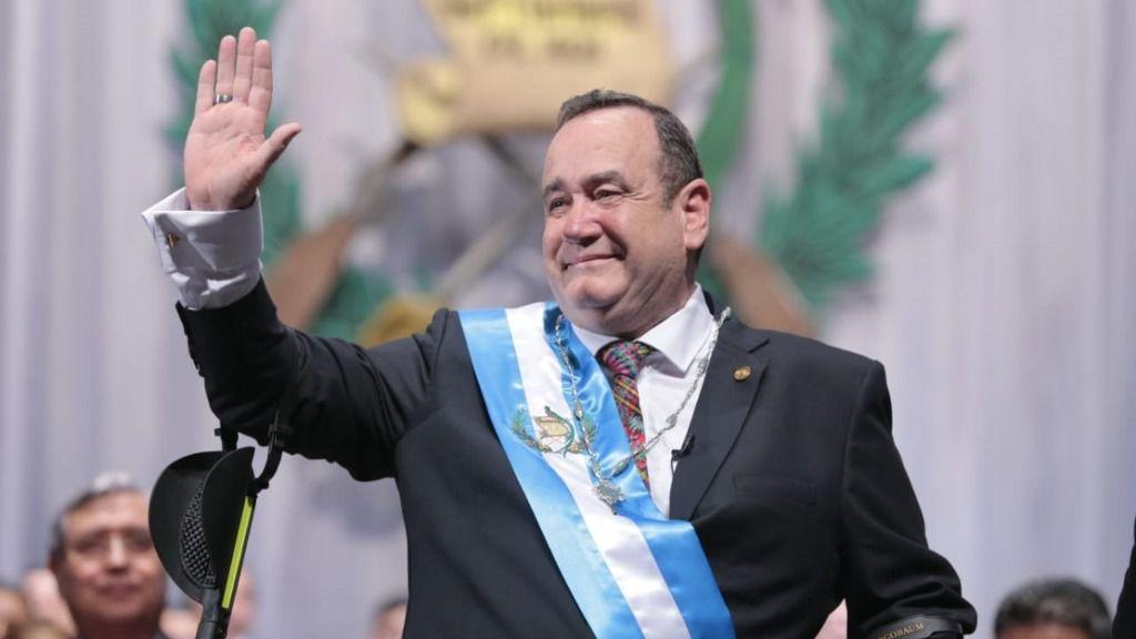 El presidente de Guatemala, Alejandro Giammattei