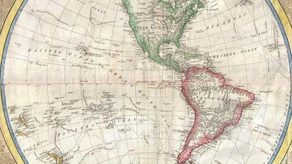 Latinoamérica Caribe mapa