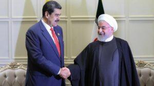 Los presidentes de Venezuela, Nicolás Maduro, e Irán, Hasán Rohani