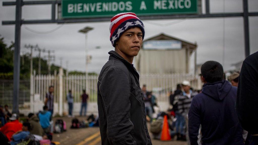 Migrante en la frontera con México