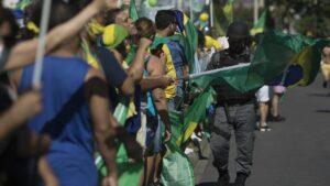 Manifestación a favor del presidente de Brasil, Jair Bolsonaro, celebrada en Río de Janeiro