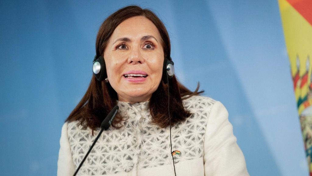 La ministra de Exteriores de Bolivia, Karen Longaric