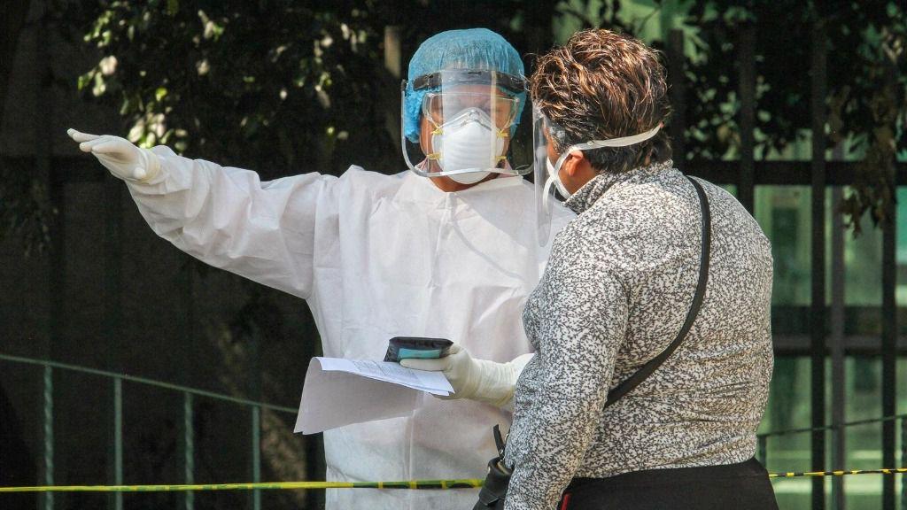 Personas con protección frente el coronavirus en Ciudad de México