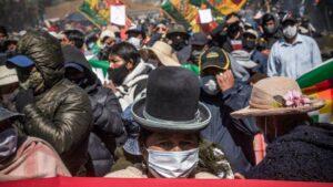 Protestas contra el aplazamiento de las elecciones de Bolivia en El Alto