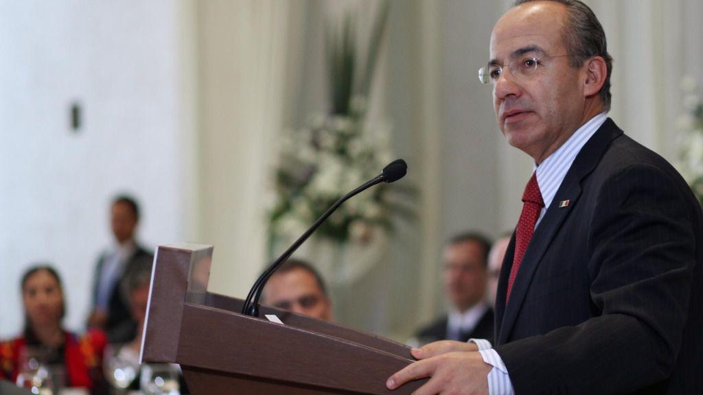 El expresidente mexicano, Felipe Calderón
