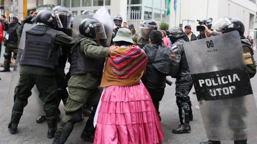 Disturbios en La Paz en el marco de la crisis desatada tras las elecciones presidenciales de 2019 en Bolivia