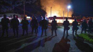 Disturbios en la ciudad de Kenosha, en el estado de Wisconsin