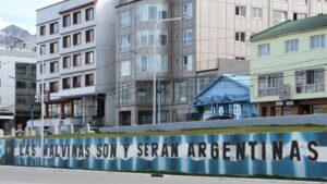 Mural que reivindica la soberanía de Argentina sobre las Islas Malvinas