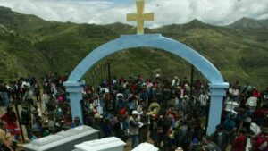 Víctimas de la masacre de Lucanamarca, en el sur de Perú