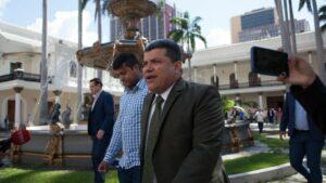 Luis Parra, el presidente de la Asamblea Nacional de Venezuela
