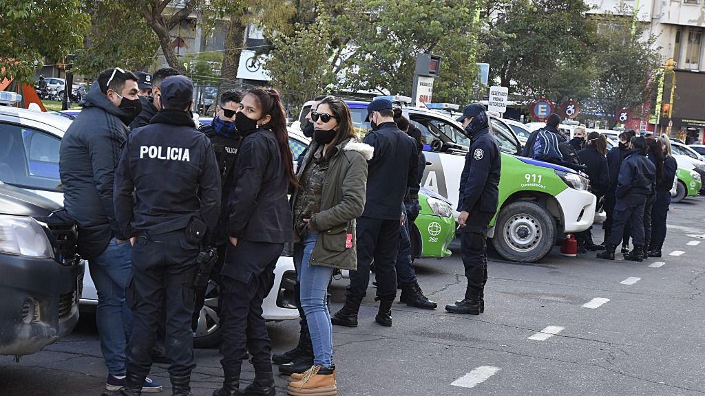 Una manifestación de policías en Argentina