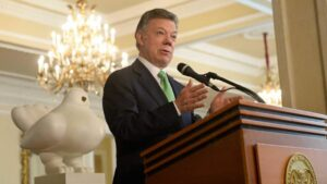 El expresidente de Colombia, Juan Manuel Santos