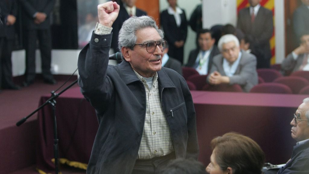 El líder de Sendero Luminoso, Abimael Guzmán