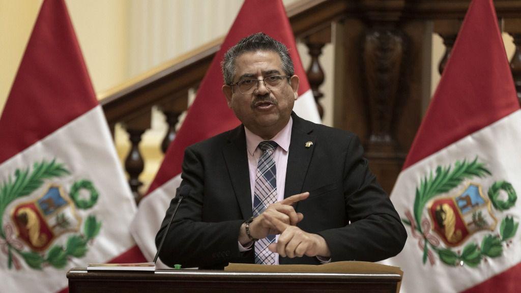 Presidente del Congreso de Perú, Manuel Merino
