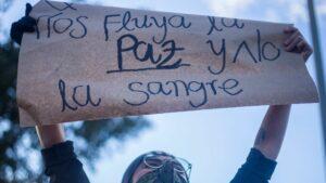 Protesta celebrada en Bogotá, Colombia