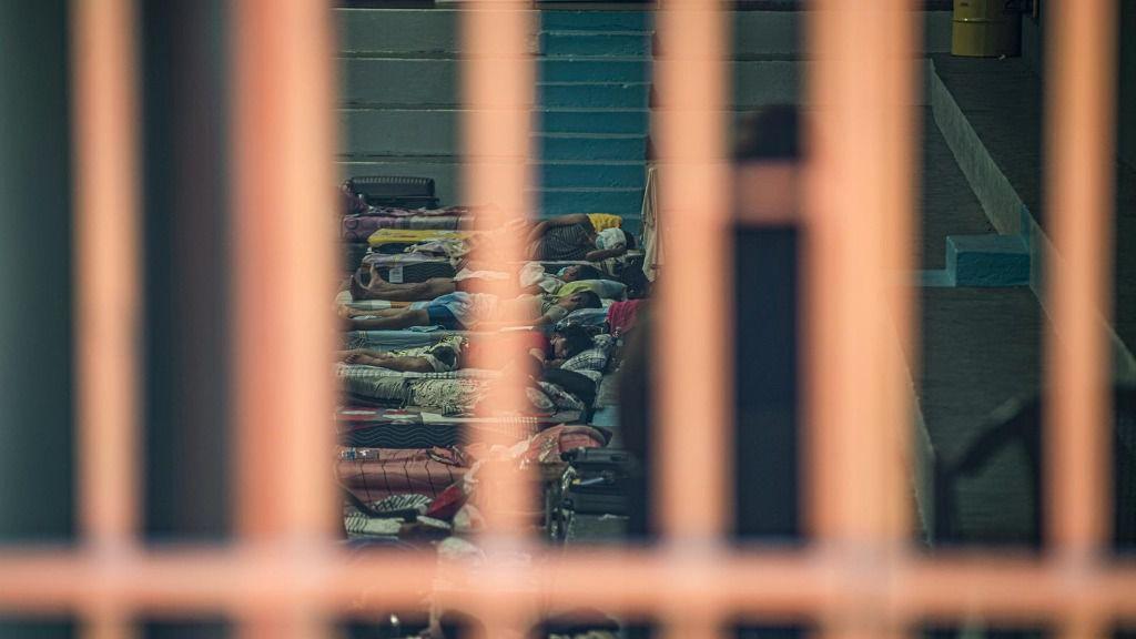 Imagen de un centro en cuarentena por el coronavirus en El Salvador