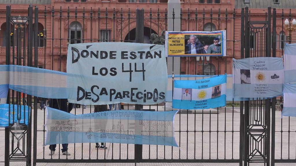 Manifestación en Buenos Aires de los familiares de los desaparecidos en el submarino ARA San Juan