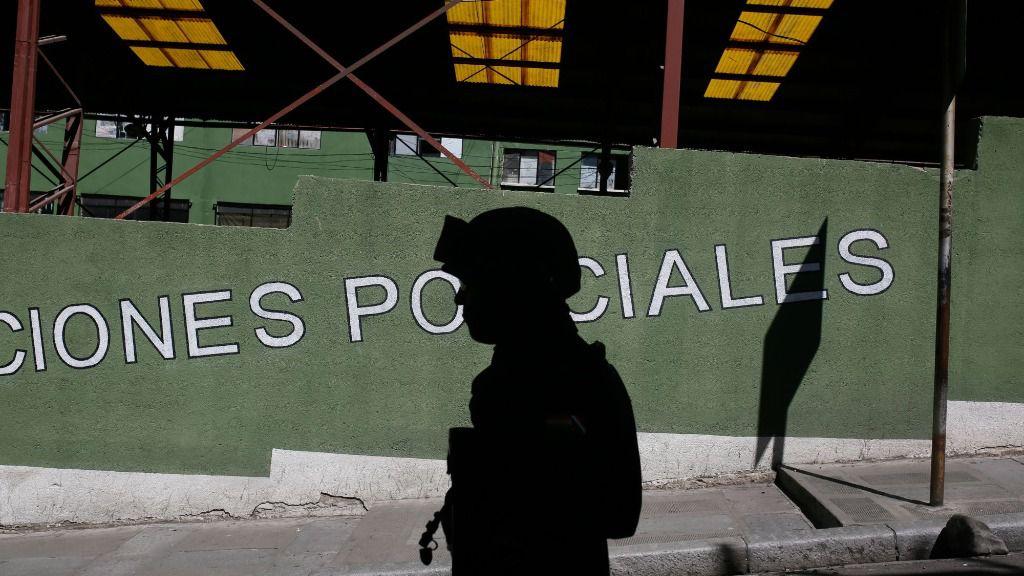 Un policía en Bolivia