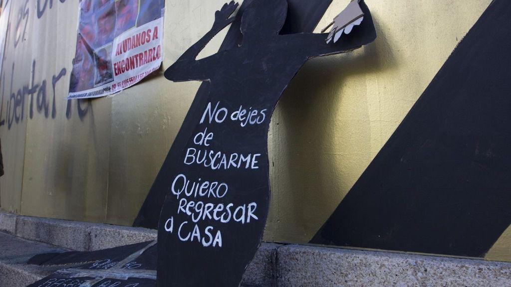 Protesta por los desaparecidos en México