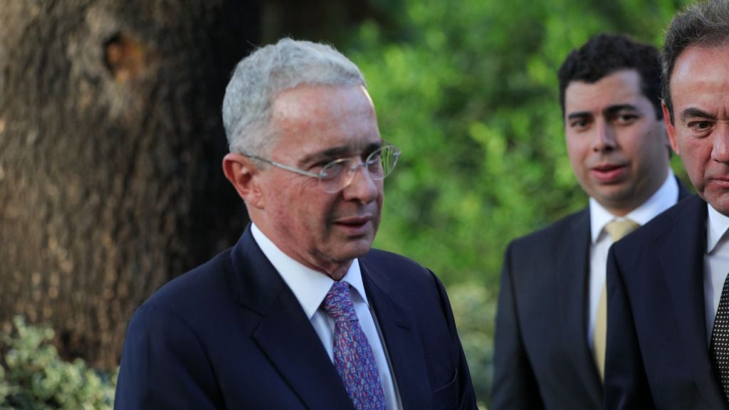 El ex presidente de Colombia Álvaro Uribe