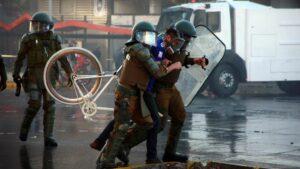 Disturbios durante las manifestaciones por el 11 de septiembre en Chile