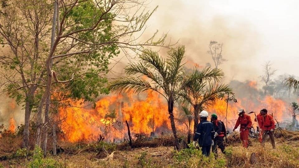 Incendio en Bolivia