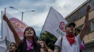 Simpatizantes del partido FARC