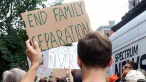 Manifestación contra las políticas migratorias del Gobierno de Donald Trump en Nueva York