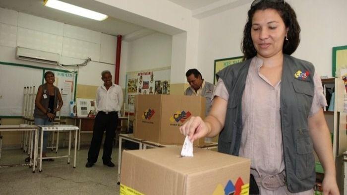 simulacro de votación en Venezuela por parte del CNE