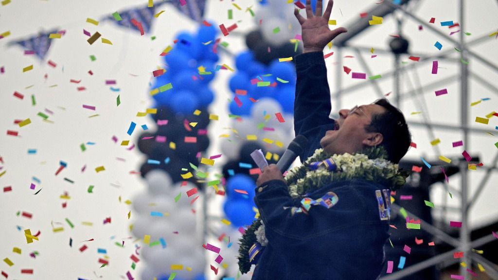 El presidente entrante de Bolivia, Luis Arce
