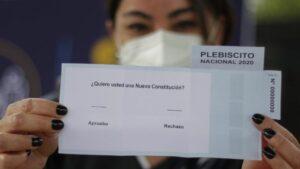 Papeleta del plebiscito en Chile