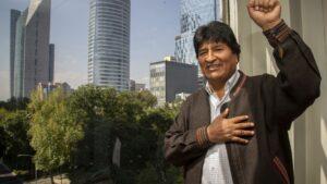El ex presidente boliviano Evo Morales, en las oficinas de DPA en Ciudad de México, donde ofreció una entrevista exclusiva