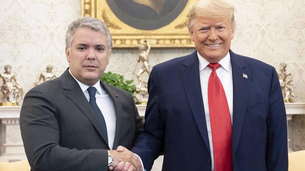 El presidente de Colombia, Iván Duque, y el de Estados Unidos, Donald Trump