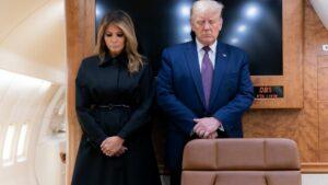 El presidente de Estados Unidos, Donald Trump y su esposa Melania