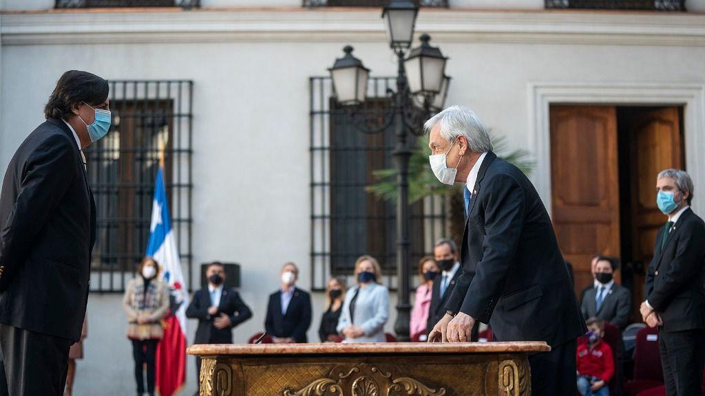 El ministro del Interior de Chile, Víctor Pérez