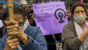Manifestación feminista y contra la violencia de género en Buenos Aires, Argentina