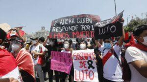 Manifestación celebrada en Lima contra los abusos policiales