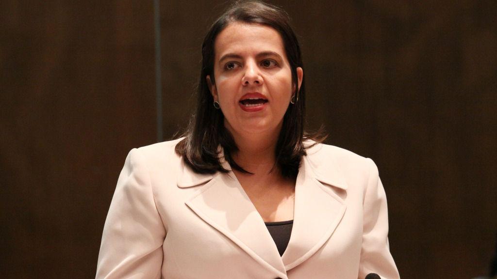 La ministra de Gobierno de Ecuador, María Paula Romo