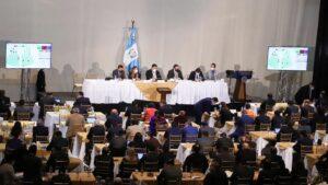 Los diputados de Guatemala celebran una sesión en el Teatro Nacional