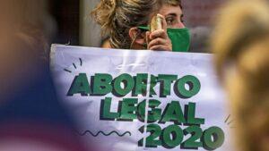 Manifestación a favor de la legalización del aborto en Argentina