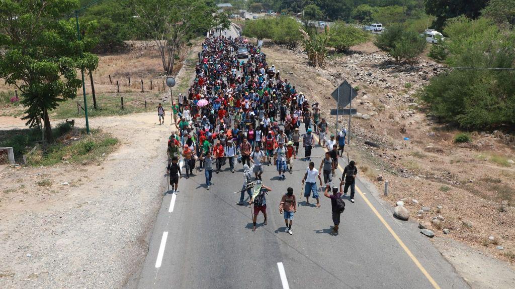 Caravana de migrantes en Centroamérica