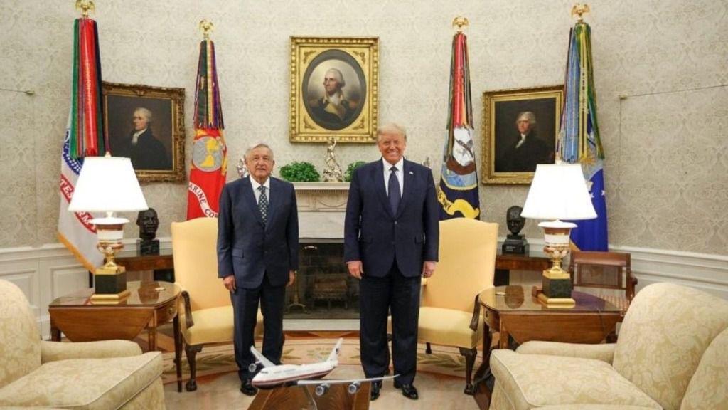 Andrés Manuel López Obrador y Donald Trump en la Casa Blanca