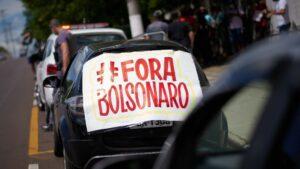 Manifestación contra el presidente de Brasil, Jair Bolsonaro