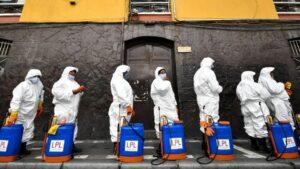 Trabajadores sanitarios en Bolivia