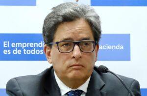 El ministro de Hacienda de Colombia, Alberto Carrasquilla