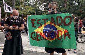 Manifestación en Sao Paulo contra la violencia policial y el último operativo llevado a cabo en la favela de Jacarezinho, en Río de Janeiro - LECO VIANA / ZUMA PRESS / CONTACTOPHOTO